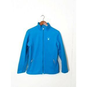 Spyder Girls XL Aqua Fleece Lined Full Zip Jacket